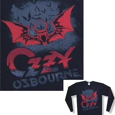 Ozzy Osbourne Bats Image Black Long Sleeve Shirt Xl X-Large New Official