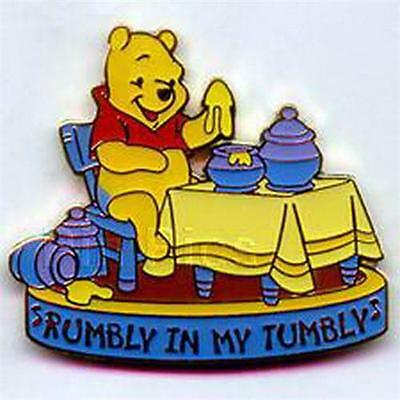 Winnie the Pooh eating honey Rumbly In My Tumbly Authentic Disney pin