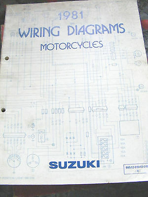 Suzuki  Wiring  Diagrams  1981  (Part Number  99512-01810-01E)
