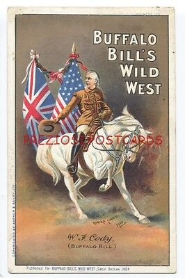 BUFFALO BILL'S WILD WEST - 1904 Poster Style  Postcard - Barnum & Baily