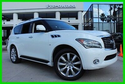 2014 Infiniti QX80 1Owner Clean CarFax Florida Car 100K mile Warranty 2014 Used Certified 5.6L V8 32V Automatic RWD SUV Bose Premium Moonroof