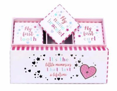 Baby Girl Gift - My First Tooth Curl and Bracelet Keepsake Box Set BAB009