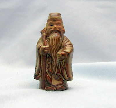 Vintage Old Small Japanese Pottery Ware Statue Figure Sculpture