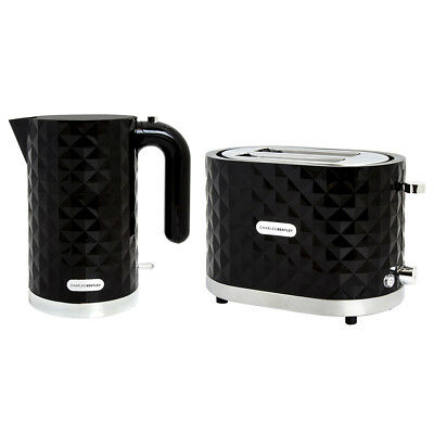 Charles Bentley Diamond 2 Slice Toaster And Kettle Set - 2 Year Warranty