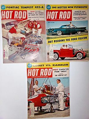 Hot Rod Magazine 1960 3 Issues March May June Vintage Muscle Car Collectible