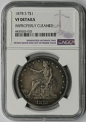1878-S Trade Dollar Silver $1 VF Details NGC