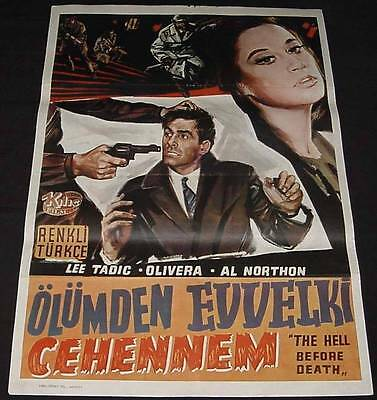 HELL BEFORE DEATH Euro Crime 1968 Turkish Edition Movie Poster RARE