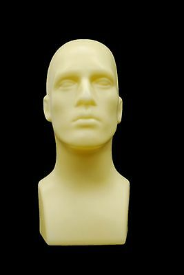 Male Abstract Mannequin Head Light weight Style Display #PS-M-FT