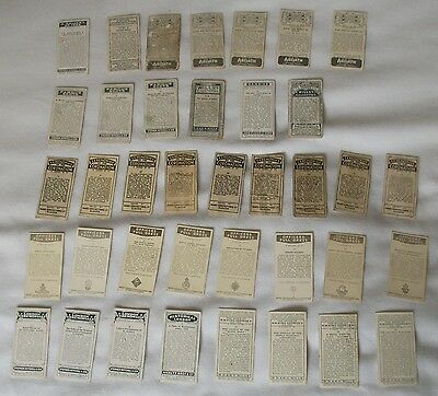 Mixed selection of cigarette cards from different companies - 48 cards