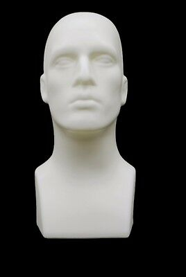Male Abstract Mannequin Head Light weight Style Display #PS-M-WH