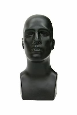 Male Abstract Mannequin Head Light weight Style Display #PS-M-BK