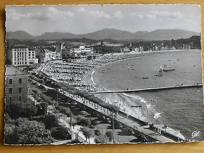 Vintage B&W postcard of St.Jean de Luz, France