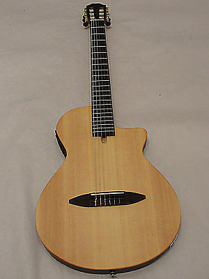 """Antonio Hermosa AH-50 CHAMBERED 2"""" THIN BODY ACOUSTIC ELECTRIC CLASSICAL GUITAR"""