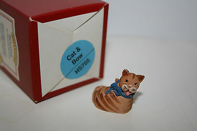"Peter Fagan Colour Box Cats ""cat & Bow"" Hs705, With Box, Rare, Retired"
