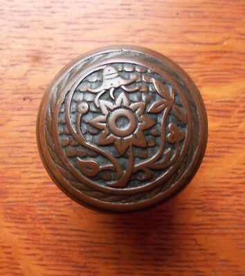 "Antique Fancy Ornate Bronze Victorian Doorknob by Norwalk c1885 ""Bluebell"""