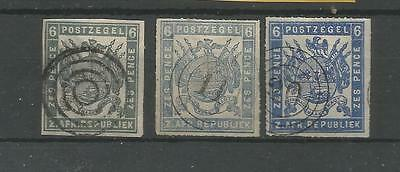 H306) Transvaal Scott2, 5 And 8. Used Probably Not Genuine