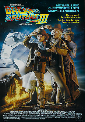 Back to the future 3 movie poster  A4 Size