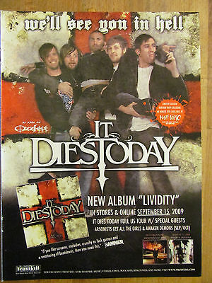 It Dies Today, Lividity, Full Page Promotional Ad