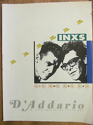 INXS, D'Arrio Strings, Full Page Vintage Promotional Ad