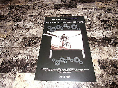 Faith No More Rare Promo Poster Print This is it: The Best of : 2003 Mike Patton