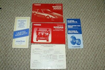 1986 Nissan 300ZX ORIGINAL Owner's Manual COMPLETE