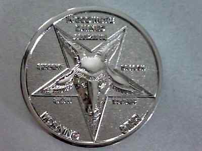 "Lucifer / Morning Star / Satan - 1 1/4"" Pure Silver Plate 3D  Coin"