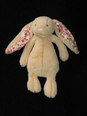 Jellycat Bashful Blossom Bunny Tan Floral Small 7""