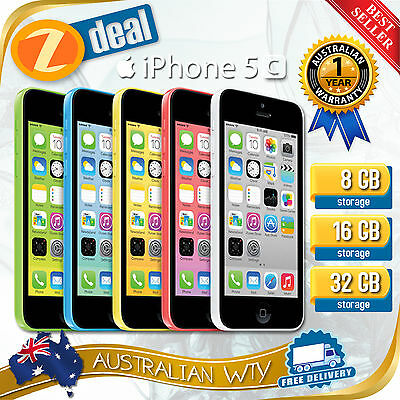 (NEW SEALED BOX) APPLE iPHONE 5C 8GB 16GB 32GB FACTORY UNLOCKED + 12MTH AUS WTY