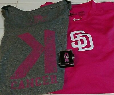 621485e9b39 MLB Mother s Day Game issued pink under armour   Woman Cancer K Shirt ...