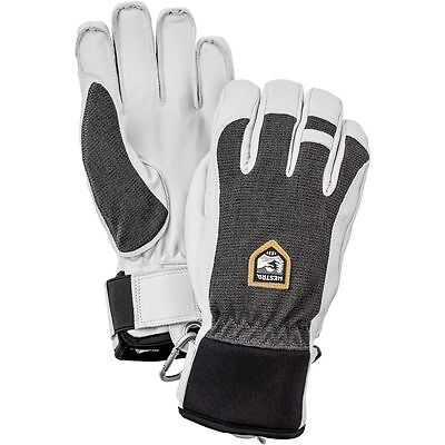 Hestra Alpine Pro Army Leather Patrol Ski Snowboard Gloves Charcoal X-Large 10