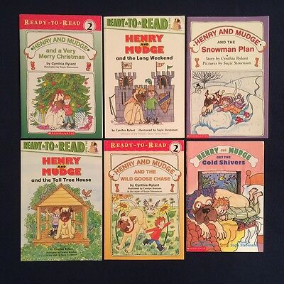 Lot of 6 Children's Books Cynthia Rylant: Henry and Mudge Series - Paperbacks