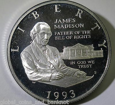 United States - 1993 Half Dollar, James Madision -  Liberty Silver Coin