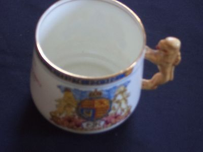 PARAGON CHINA  KING EDWARD V111 1937 CORONATION  COMMEMORATIVE  MUG Lion handle