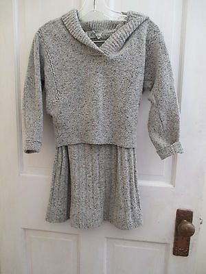 1950's VINTAGE LOFTIES BY LAWRENCE TWEED WOOL KNIT SWEATER & SKIRT SET SMALL