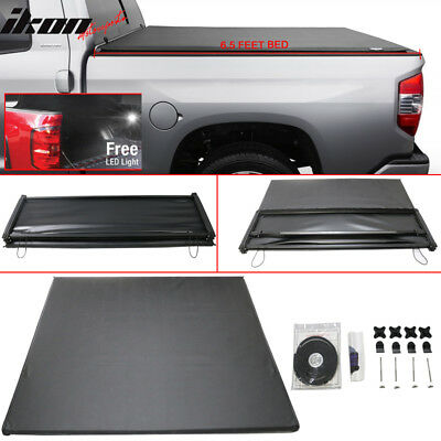For 07-13 Toyota Tundra 6.5 Feet Bed  Tri-Fold Soft Tonneau Cover Black