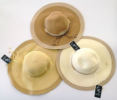C.C Women/'s Packable Wide Brim Paper Straw Floppy Hat SPF50 Protection ST-14