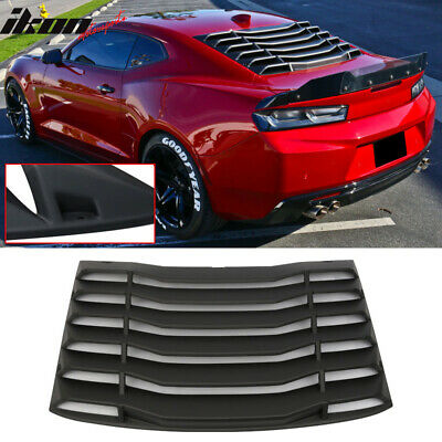 Fits 16-20 Chevy Camaro IKON Rear Window Louvers Cover Sun Shade ABS