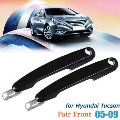 Front Left Right Exterior Outside Door Handle for Hyundai Tucson 2005-2009 Black