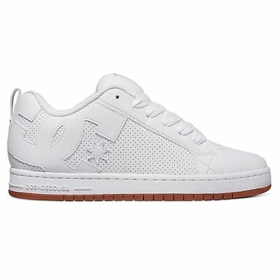 DC Shoes Court Graffik White Mens Trainers