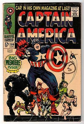MARVEL Comics VG 4.0  1st own issue Avengers 100 Captain america