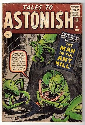 Marvel TALES TO ASTONISH 27 UK 3.5 1st Appearance ANT-MAN Pym GIANT MAN AVENGERS