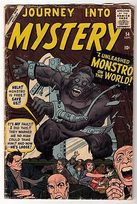 Marvel Comics  G- 1.5  PRE THOR #54 Journey into mystery MONSTRO ON WORLD