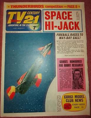 Tv 21  #72 Century Fireball Xl5 Stingray Thunderbirds Daleks Colour Dr Who