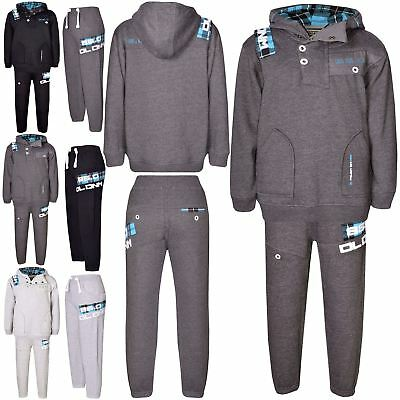 Kids DL Project 86.0 Hooded Hoodie Bottom Contrast Tartan Lining Tracksuit Set