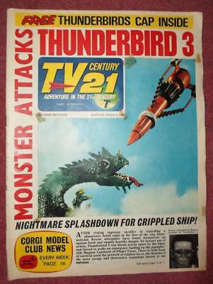 TV 21 #90 CENTURY FREE GIFT International Rescue Hat  XL5 STINGRAY THUNDERBIRDS
