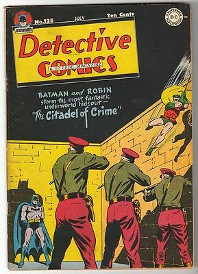 DC Comics DETECTIVE BATMAN 1947 Golden age #125  VG+