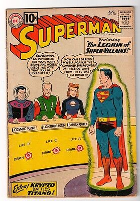 DC Comi SUPERMAN Silver age #147 Nice issue Legion of Villains VG