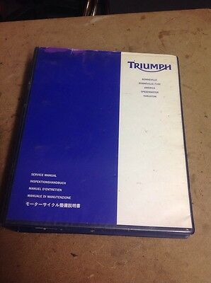 Triumph Bonneville,thruxton,America & Speedmaster Genuine Service Manual
