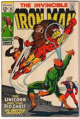Marvel Comics FN+ IRON MAN  #15 1969 SILVER AGE