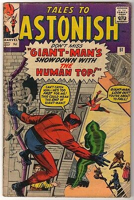 Marvel Comics TALES TO ASTONISH Vol 1 No 51 Giant-Man VG ANT MAN